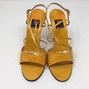 Anne Klein leather strap heels